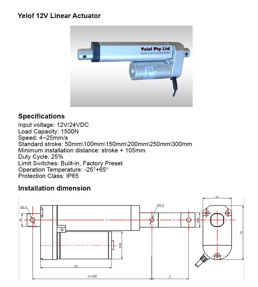 Arens Electric Linear Actuators 12v 24v 240v Sydney Australia Ac Actuator Wiring Diagram Info